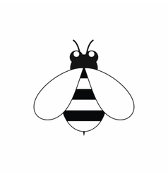 Cute little bee icon black simple style vector image