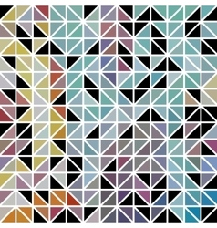 Abstract geometric colored triangle grid vector