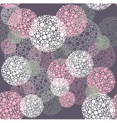 Abstract seamless polka dot circles pattern vector image