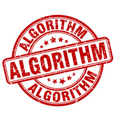 Algorithm red grunge stamp vector