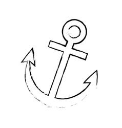 Anchor marine emblem vector