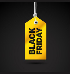 Black friday label black friday sale tag vector