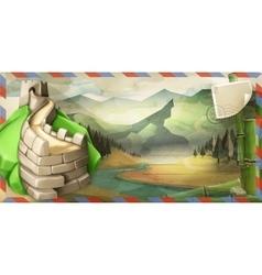 China postcard vector image vector image