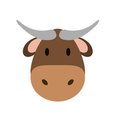 cow or bull face icon image vector image vector image