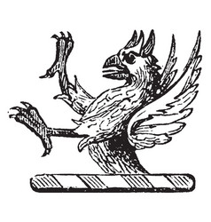 Demi-griffin crest is used to express the horns vector