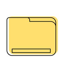 folder document isolated icon vector image
