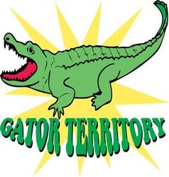 Gator territory vector