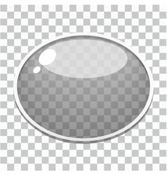 Glass button template vector