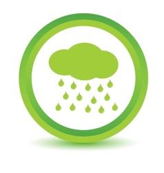 Green rain icon vector