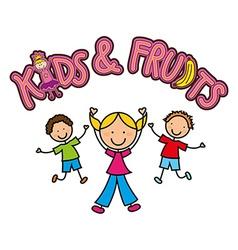 Happy children design vector