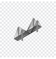 isolated highway isometric bridge element vector image