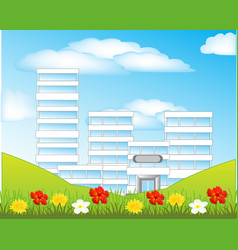 Nature and city vector