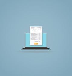 Online billing document vector