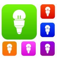 Reflector bulb set collection vector