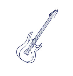 Rock electric guitar vector