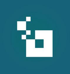 square solar technology logo vector image
