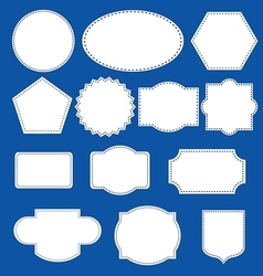 Stitched labels set vector