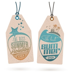 Summer Holidays Hang Tags vector image