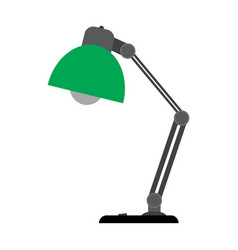 table lamp on a white background vector image vector image
