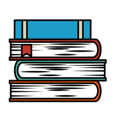 Text books isolated icon vector