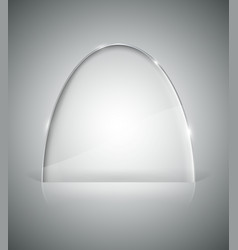 Transparent elliptic glass stand vector image vector image