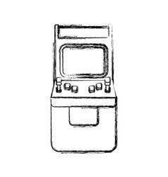 Videogame arcade machine vector