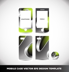 Green metal sphere mobile phone smartphone case vector
