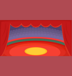 Circus horizontal banner arena cartoon style vector