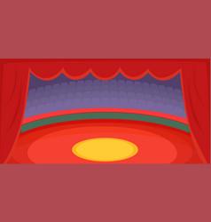Circus horizontal banner arena cartoon style vector