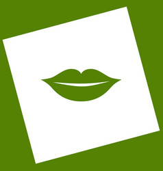 Lips sign   white icon vector