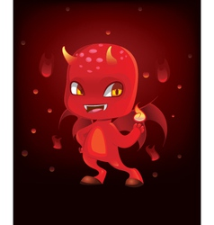 Cute scary devil vector
