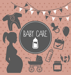 Baby care concept vector