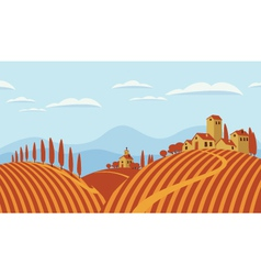 Italian countryside vector image
