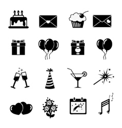 Set of celebratory icons symbols vector
