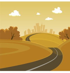 Road to the city vector