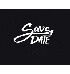 White save the date texts on abstract black vector