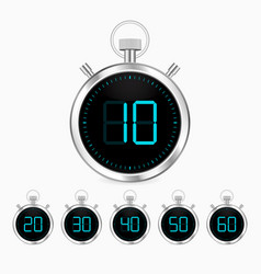 3d realistic stopwatch vector image
