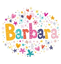 Barbara name design vector