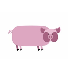 Fat pig on a white background farm animal vector