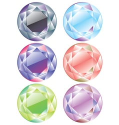 Shiny diamonds set3 vector