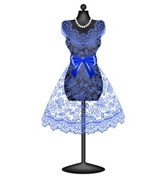 Lace dress on mannequin vector