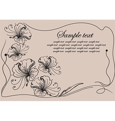 Whimsical floral border vector