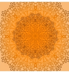 Ound ornamental geometric doily pattern vector