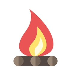 Beautiful flat bonfire isolated vector