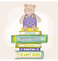 Baby Bear Shower or Arrival Card vector image vector image