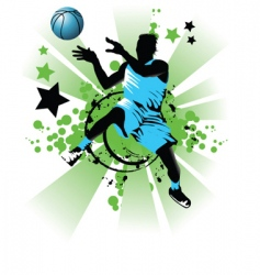 basket ball star vector image