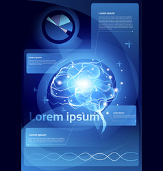 Brain neurons activity medicine thinking vector