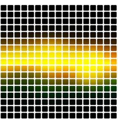 Brown orange green rounded mosaic background over vector