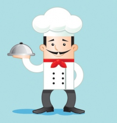 cartoon of chef vector image