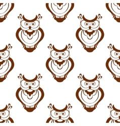 Cartoon owlet seamless pattern vector image vector image